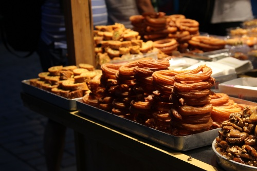 Ramadan sweets for sale on the Hippodrome in Istanbul's old city