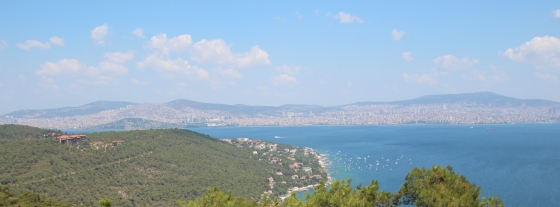 View of just part of Asian side of the city from the island of Büyükada