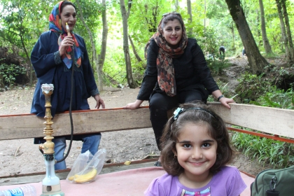 Kamelia, Azalia & Vanusheh - Grandmother, Mother and Daughter. My beautiful extended family in Lahijan
