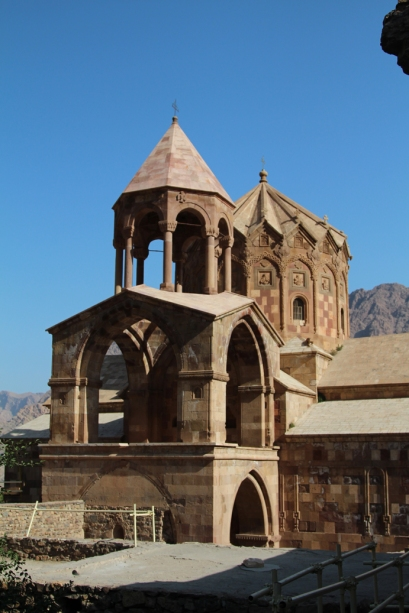The Armenian Orthodox church of St Stephanos near Jolfa and the Nakhchivan border. The church is pre-1600s and has only recently been restored. This part of the world has been racked by war since the early 90s, with Armenia and Azerbaijan pitted against one another and Iran having to maintain relations with both.
