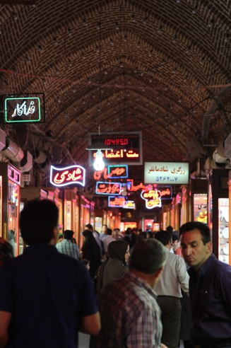 The gold bazar in Tabriz, where they'll quote US Dollars without asking.