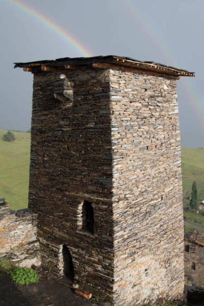 We visited a museum in one of the Keselo towers and a rain storm came through. After it had cleared we stepped out to the sight of afternoon rainbows