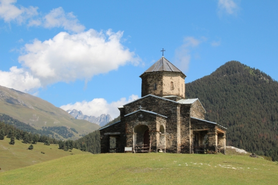 The church in Shenako, a few hours walk from Omalo toward the border with Dagestan