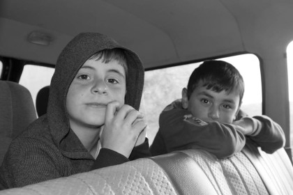 The nephews of our driver from Omalo back to Kakheti. They sat quietly in the back the whole 3 hour drive