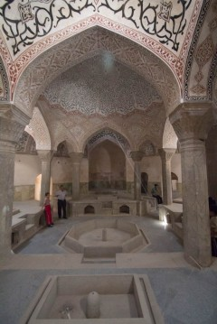 Milad and his father in the Kordasht Bath House