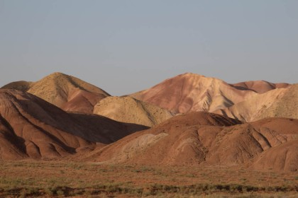 The Colour Mountains, just outside Tabriz, in the setting sun