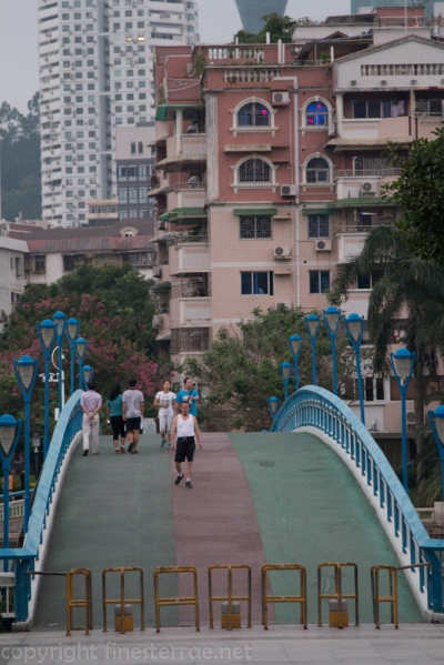 A bridge over the Yundang Inner Lake in Xiamen, Fujian province, China