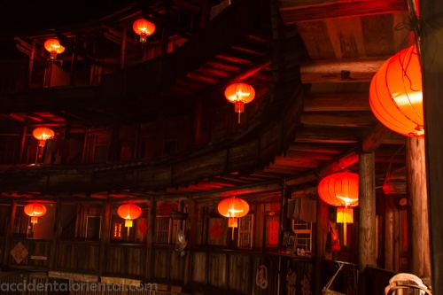 Some of the tulou are operating as family-run inns where guests can sleep and eat.