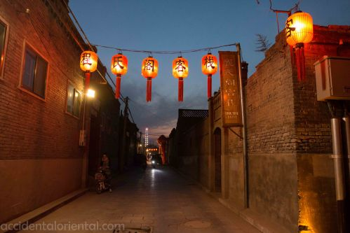 A small lane in Pingyao at night