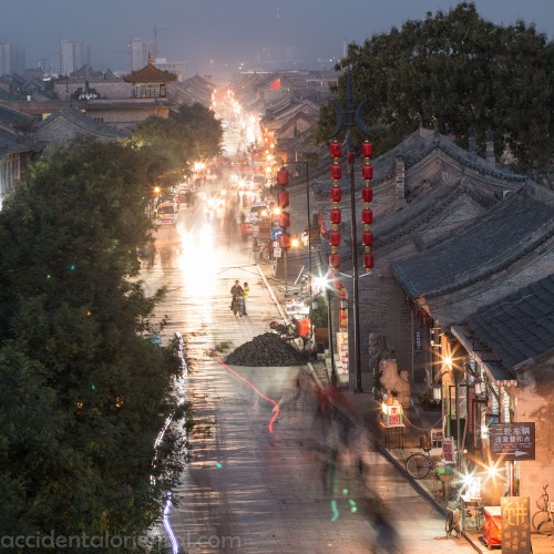Pingyao's West Street (Xī Dà Jiē) at night