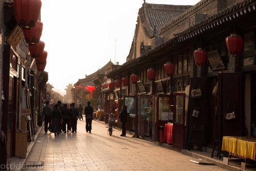 One of Pingyao's shopping streets